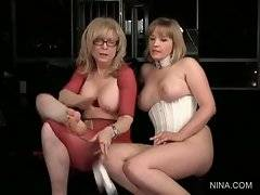 In this porn video you can see how Nina is playing with her slut