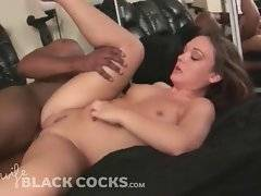 Naughty Krystal Jordanis having sex with black dude