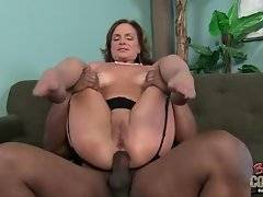 Cute lady is here to suck his big and black dick