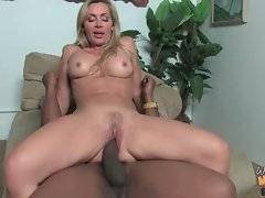 Sexy blonde milf helps her son in her own way.