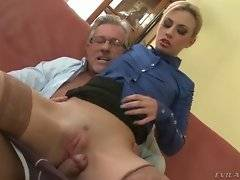 Gorgeous boss is here to play with his secretary