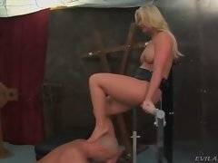 Amazing and horny slut is satisfying her buddy