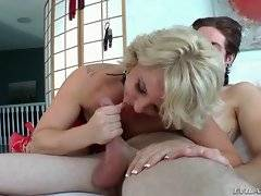 In this porn video you can see amazing blonde