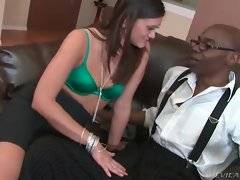 In this porn video you can see alluring doll