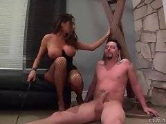 Lovely and brave lady is showing her hairy pussy