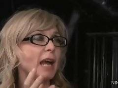 In this porn video you can see cute  Nina Hartley