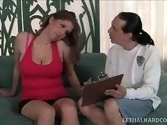 Lovely slut wants to satisfy her coach in the room