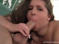 In this porn video you can see admirable cock sucker