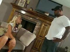 Ebony daddy wants to fuck his doll in the room