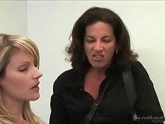 In this porn video you can see amazing lesbians