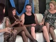 Three cock hungry ladies eager for tough younger guy.