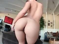Amazing slutie readily shows her pink wet holes.