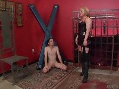 This pretty mistress knows hot to treat her lover properly.