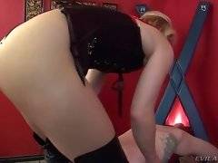 Nasty blonde loves to have her clit sucked.