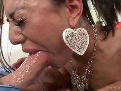 Big cock deep in her throat drives this chick crazy.