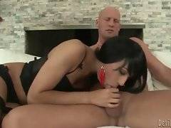 In this porn video you can see frisky cock sucker