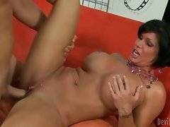 In this porn video you can see adorable whore