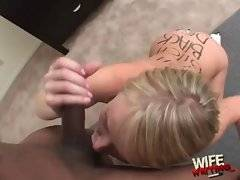 Naughty blonde is dreaming about nonstop blowjob