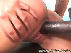 Brave Lina Paige is having awesome sex in the room