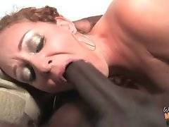 Horny black brothas attack nasty white milf.