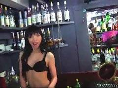 Two cute bitches are dancing and showing their juicy asses