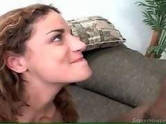 Naughty brunette wants to suck big phallus