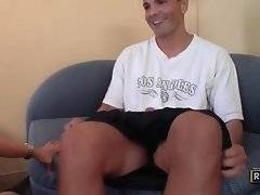 Horny dude offers his eager dick to sexy milf.