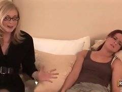 Sexy blonde wants to be with her naughty brunette