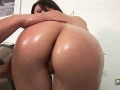 Slut with huge and fat ass is taking off her panty