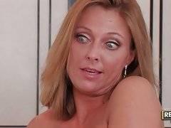 Slut in black stockings wants her bf to lick her twat