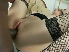 In this porn video you can see white slut