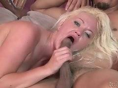 In this porn video you can see attractive blonde