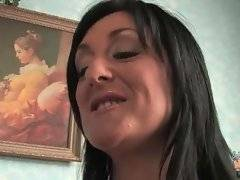 In this porn video you can see lovely brunette
