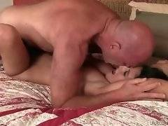 In this porn video you can see hungry bitch