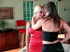 In this porn video you can see amazing and cute lesbians