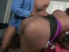 In this porn video you can see attractive slut