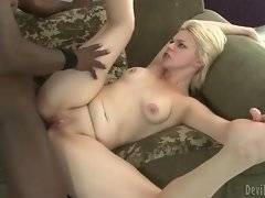 Adorable bitch likes to suck big and black dick