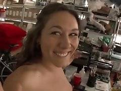 In this porn video you can see dazzling slut