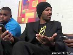 Hungry black buddies pick up white slutie.