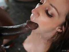 In this porn video you can see deep blowjob