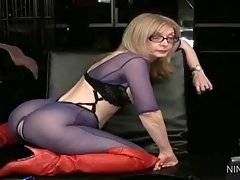 In this porn video you can see dirty and shy Nina Hartley