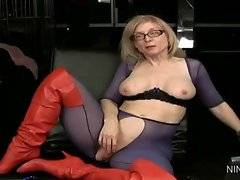 In this porn video you can see innocent Nina Hartley