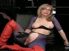 In this porn video you can see winsome Nina Hartley