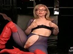 In this porn video you can see lovely Nina Hartley