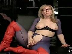 In this porn video you can see dirty Nina Hartley