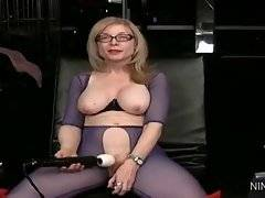 In this porn video you can see winning Nina Hartley