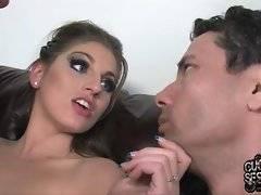 Slut makes her husband taste black rod from her lips.