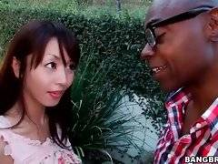 Pretty Marica Hase meets big tough black dude.