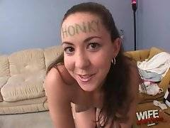 This white slutie tells she is fond of black dicks.
