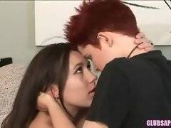 Experienced lesbian tenders her pretty girlfriend.
